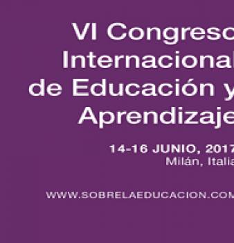 VI CONGRESO INTERNACIONAL DE EDUCACIÓN Y APRENDIZAJE.