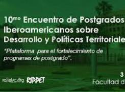 """La MGU en el """"X Encuentro de Posgrados Iberoamericanos sobre Desarrollo y Políticas Territoriales"""""""
