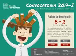 CONVOCATORIA 2017 CURSOS FORMATIVOS ESCUELA DE SEMILLERO DE INVESTIGACION