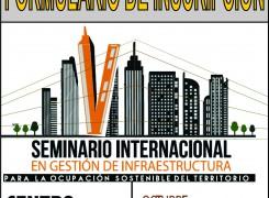 Formulario de inscripción al Seminario Internacional de Gestión de Infraestructura para la ocupación sostenible del territorio