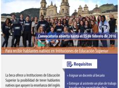 BECAS ASISTENTE ENSEÑANZA DE INGLÉS