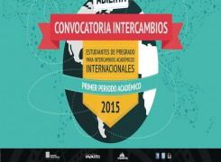 CONVOCATORIA ABIERTA PARA INTERCAMBIOS EN EL EXTERIOR (PRIMER SEMESTRE 2.015)