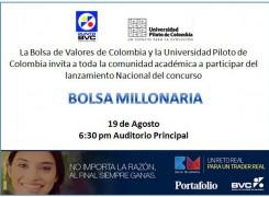 Invitación lanzamiento Nacional de Bolsa Milloraria 2014