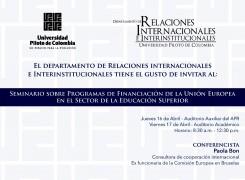 SEMINARIO DE PROGRAMAS DE FINANCIACIO'N  DE LA UNIO'N EUROPEA