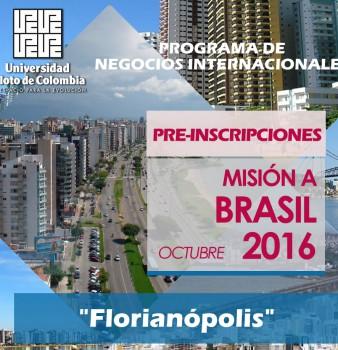 PRE-INSCRIPCIONES MISIÓN A BRASIL 2016