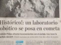 Un Laboratorio robòtico se posa en cometa