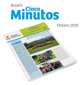 BOLETÍN 5 MINUTOS No 230 20 de febrero a 5 de marzo de 2018