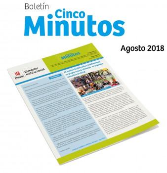 Boletín 5 Minutos. Agosto 2018