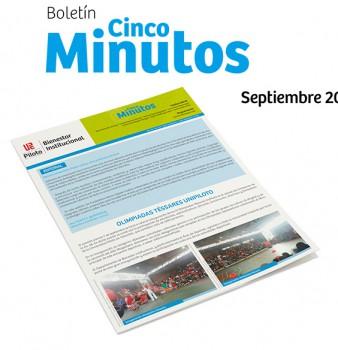 Boletín 5 minutos. Aniversario y Semana Universitaria Piloto: Cultura como prácticas humanas