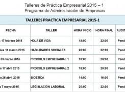 Talleres práctica empresarial 2015 – 1