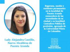 LADY ALEJANDRA CASTILLO, EGRESADA UNIPILOTO: NUEVA ALCANDESA DE PUENTE ARANDA.