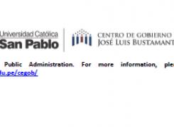 Convocatoria en  la Universidad Católica de San Pablo
