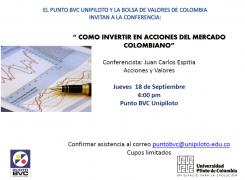 Próximos eventos académicos en el Punto BVC UNIPILOTO